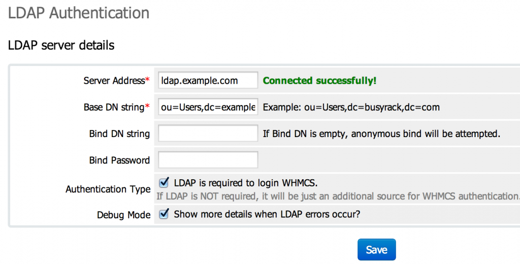 LDAP Authentication for WHMCS (Admin)